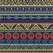 pic of striping  - Tribal striped hand drawn seamless pattern - JPG