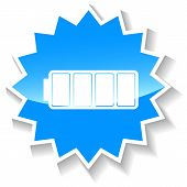 Battery blue icon