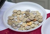 Disposable Plate With Russian Coins