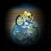 Motorcycle On Planet Earth