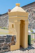 Guard Hut In Front Of The Castle Of Good Hope In Cape Town,