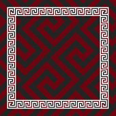 image of greek  - Traditional  seamless vintage red - JPG