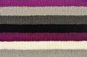 Color Stripe Wool Scarf.