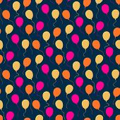 Holiday pattern with balloons