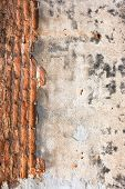 High Resolution Pictures Vintage Orange Pattern Of Old Brick Wall