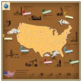 United States Of America Landmark Business And Travel Infographic