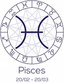 stock photo of pisces  - Zodiac sign  - JPG