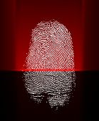 Thumb Print Scanning With Red Laser Beam