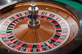 picture of roulette table  - Table for playing roulette in a casino - JPG
