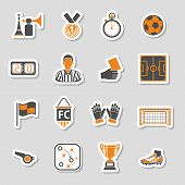 Soccer Icon Sticker Set