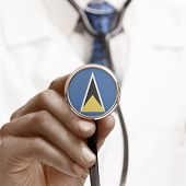 Stethoscope With National Flag Conceptual Series - Saint Lucia