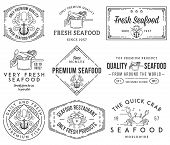 Seafood Labels And Badges Vol. 1 Black On White