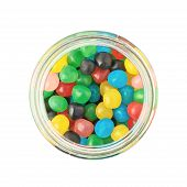 Jar full of candy ball sweets
