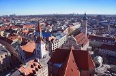 image of munich residence  - The Munich city spring day skyline - JPG