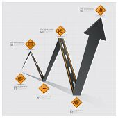 Road And Street Traffic Sign Arrow Diagram Business Infographic