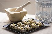 picture of catering  - trundle in detail dish food catering and blur background