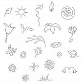 Seamless floral spring doodle pattern