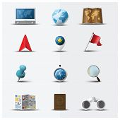 Travel And Journey Navigator Icon Set Design