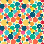 Seamless Pattern With Grunge Dots.