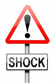 image of shock awe  - Illustration depicting a sign with a shock concept - JPG