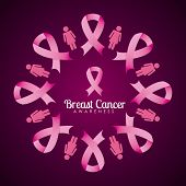 stock photo of causes cancer  - breast cancer design - JPG