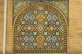picture of tehran  - decorative panels in the 19th century Golestan palace in Tehran, Iran ** Note: Soft Focus at 100%, best at smaller sizes - JPG