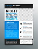 picture of prospectus  - Modern business flyer template  - JPG