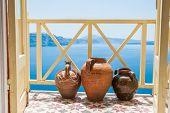 picture of jug  - Decorative jugs on the balcony - JPG