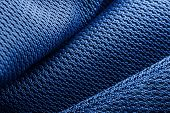 picture of deep-tissue  - Wave forms of blue polyester fabric texture - JPG