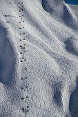 image of sochi  - Chairlift in a ski resort Krasnaya Polyana - JPG