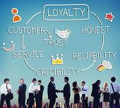 pic of loyalty  - Loyalty Customer Service Trust Honest Reliability Concept - JPG