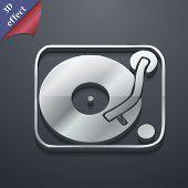 picture of jukebox  - Gramophone vinyl icon symbol 3D style - JPG