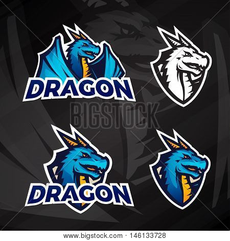 Creative dragon logo