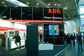 Hannover, Germany - March 5, 2011: Stand Of The Aeg In Cebit Computer Expo, Hannover, Germany. Aeg I