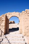picture of zealots  - Ruins of the ancient Masada fortress in Israel - JPG