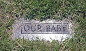 Grave Marker Of Child