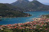 Village of Nidri on Lefkada island
