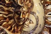 foto of carnivale  - A beautiful carnivale mask from venice Italy - JPG