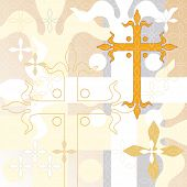 Decorative cross background