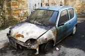 Devastated Car