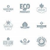 Eco Journey Logo Set. Simple Set Of 9 Eco Journey Vector Logo For Web Isolated On White Background poster