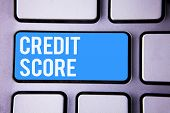 Wordss Writing Textss Credit Score. Business Concept For Capacity To Repay A Loan Creditworthiness O poster