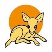 Vector Element Cartoon Deer. Deer Icon Art. Deer Icon Eps. Deer Icon Image. Deer Icon Logo. Deer Ico poster