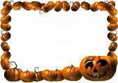 pumpkin Halloween Thanksgiving frame