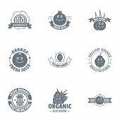 Environmentally Amicable Logo Set. Simple Set Of 9 Environmentally Amicable Vector Logo For Web Isol poster