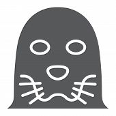 Seal Glyph Icon, Animal And Zoo, Mammal Et Sign Vector Graphics, A Solid Pattern On A White Backgrou poster