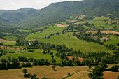 Montefeltro (marches, Italy), Landscape From Pennabilli (pesaro Urbino) At Summer