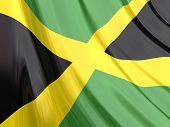 Glossy Flag Of Jamaica