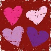 Corazones de San Valentín Grunge