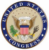 Seal of the United States Congress Color